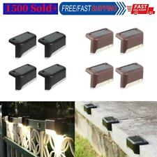 4x Solar Deck Lights IP65 LED Lamps for Outdoor Pathway Yard Stairs Steps Fence