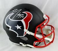 DeAndre Hopkins Autographed Texans Flat Black Speed F/S Helmet - JSA W Auth *W