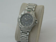 TAG HEUER 4000 QUARTZ WATCH-SILVER GREY DIAL-VERY NICE CONDITION-NEW BATTERY