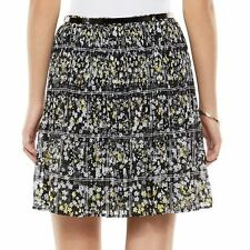 Brand New ELLE Pleated Chiffon Skirt - Women's (Size-Medium) + Free Shipping NWT