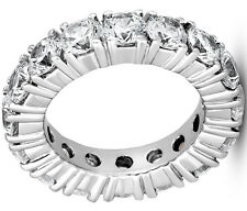 Wedding Band Size 5, 15 x 0.32 ct 4.80 ct Diamond Eternity Ring 14k white Gold