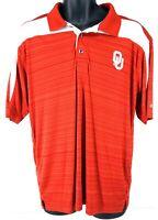 Oklahoma Sooners Champion NCAA Football Size Large Performance Polo Shirt EUC 8