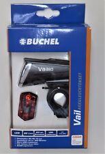 """Büchel """"Vail"""" Akku-Fahrrad-Leuchten-Set Fahrrad 80 Lux LED StVZO USB-Ladebuchse"""