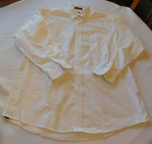 George Men's long sleeve button up shirt Size 16 1/2 32/33 White Spot GUC