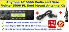 Anytone AT 6666 All Mode Radio & Sirio Fighter 5000 Roof Mount Antenna Kit