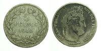 pcc1601_16) FRANCIA 5 francs Louis Philippe I 1840  B Rouen