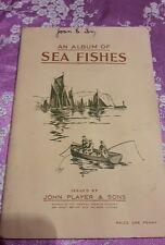 1935 VECCHIO RARO ALBUM FIGURINE SEA FISHES PESCI DI MARE COMPLETO PLAYER & SONS