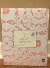 "NEW Pottery Barn Kids Sweet Flower Flocked BLACKOUT Panel 44"" x 63"" PINK"