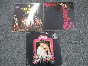 "3 Vinyl LP's Sammlung 12"" Soundtrack -Grease Cabaret, A Chorus Line-"