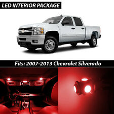 2007-2013 Chevrolet Silverado Red Interior LED Lights Package Kit