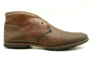 Timberland Boot Co. Brown Leather Casual Lace Up Chukka Ankle Boots Men's 10