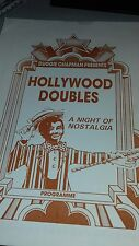 Theatre programme. Duggie Chapman presents.Hollywood Doubles. Night of nostalgia