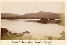 "Ireland, Middle Lake from ""Bricken Bridge"" in Killarney  Vintage albumen print."