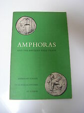 AMPHORAS and the ancient wine trade 69 illustrations 1961