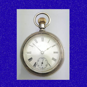 Retro & Vintage Silver Elgin 7J  with 9k Gold Horse Racing Pocket Watch 1903