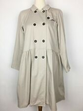 'S MAX MARA Design For Easy Living Beige Lightweight Trench Coat Duster Size 12