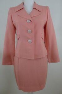 Vintage Christian Lacroix Paris Made in France Pink Skirt Suit Size 34