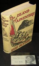1948 THE ISLAND OF ADVENTURE ENID BLYTON INSCRIBED 2X BOOK & SEPERATE BOOKPLATE