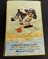 Vintage Deck of Hanover Sacks Corporation Flushing NY Advertising Playing Cards