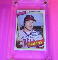 AUTOGRAPH 1980 Topps #636 Toby Harrah Indians, SIGNED Baseball card auto