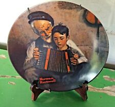 """Norman Rockwell """"The Music Maker"""" Collector Plate Numbered Display Mount Knowles"""