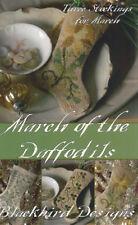 March of the Daffodils Stocking Ornament Blackbird Designs Cross Stitch Pattern
