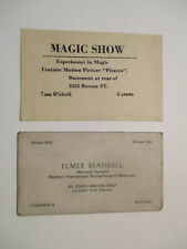 Original Magician'S Advertisement / Card 1940'S 50'S. Louisville Magic