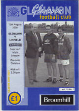 2000/01 Glenavon v Linfield - Irish League - 12th Aug - Vol 19 No 1