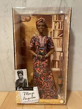 Barbie Inspiring Women Maya Angelou Wearing Dress Collector Doll