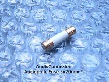 T2, 0a 2a 250v audiophile 5x20mm di backup Backup finemente le voci di Slow Blow Fuse