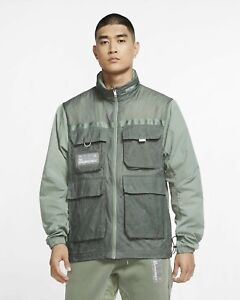 Jordan 23 Engineered Full-Zip Jacket Men's Spiral Sage White Windbreaker Outwear