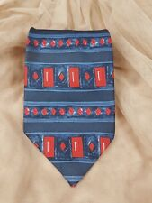 Pure Silk Mens Tie Classic Fit 100% Grey Red