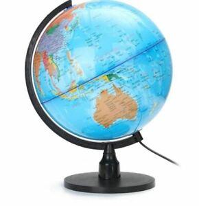 32cm LED World Map Globe Desk Lamp LED Night Light Home Bedroom Office 220V
