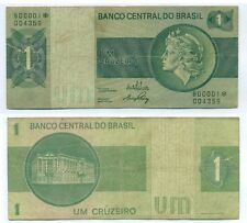 BRAZIL REPLACEMENT NOTE 1 CRUZEIRO (1972) P 191Aa F+