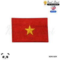 VIETNAM National Flag Embroidered Iron On Sew On Patch Badge For Clothes etc