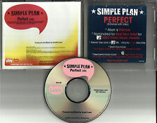 SIMPLE PLAN Perfect w/ ENHANCED VIDEO PROMO RADIO DJ CD single 2003 MINT USA