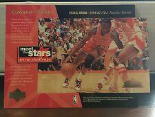 "1996 Upper Deck Michael Jordan 5""x7"" Meet The Stars Dynamic Debuts Insert Card"