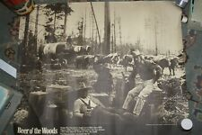 Vintage Rainier 'Beer O' the Woods' Poster (70s?) Loggers Trees