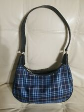 Burberry Bag  Hobo Blue Nova Check Nylon Leather Small Brook New no tag