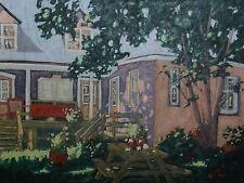 "ORIGINAL 30"" X 40"" 1995 Quebec Oil Painting Gilles Bédard i.a.f. Oil on Board"