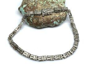 "Vintage Ross Simons 925 Sterling Silver 7.75"" Link Tennis Bracelet (13.8g)"