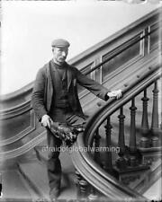 "Photo 1890s Univ Calif Berkeley ""Janitor of North Hall"""
