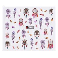 12 Patterns/Big Sheet Nail Water Decals  Nail Art Transfer Stickers