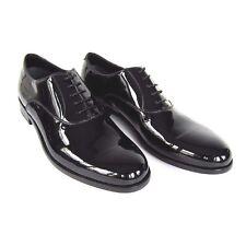 J-1887257 New Brioni Oscar Night Black Patent Oxford Tie Dress Shoes US Size 9