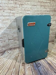 Vintage 1960's Coleman Convertible Metal Camping Ice Chest Cooler Refrigerator