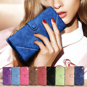 Women Leather Wallet Long Zip Purse Card Phone Holder Case Clutch Handbag