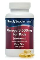 Omega 3 for Kids 500mg - Supports Heart, Brain & Eyes 180 Capsules