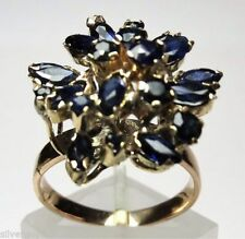 Ring Sapphire Yellow Gold 14k Vintage & Antique Jewellery