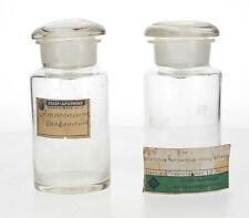 2 x old pharmacy Apothecary bottles German Vintage