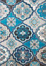 Blue Multi-Color Transitional Modern Area Rug Contemporary Floral Carpet Rugs